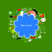 Christmas vector illustration banner — Stock Vector