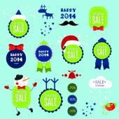 Christmas set of banners — Stock Vector