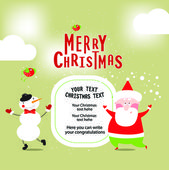 Illustration banner with Santa — Stock Vector