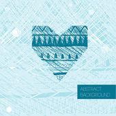 Fondo romántico con corazón — Vector de stock