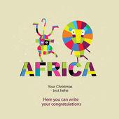 Vector set of African animals. — Stockvektor
