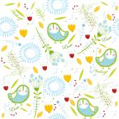 Background with birds — Stock Vector