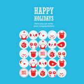 Happy holidays illustration — Stock Vector