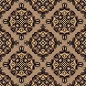 Vintage damask floral vector pattern — Stock Vector
