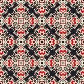 Damask seamless ornamental  motif vector pattern — Stock vektor