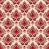Damask flower seamless vector pattern — Stock Vector