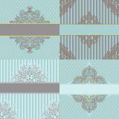 Vintage cards vector designs set — Stock Vector