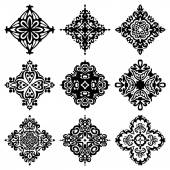 Set of vector graphic abstract ornamental designs — Stock Vector