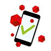 Virus aanval slimme telefoon achtergrond vector — Stockvector