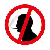 No smoking symbol vector — Stock Vector