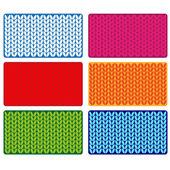 Vector wool textured cards — Vecteur