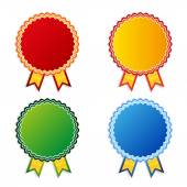 Set of vector color empty badges — Stock Vector
