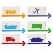 Transportation pointers vector — Stock Vector