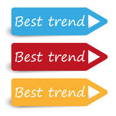 Vector best trend three color pointers — Stock Vector