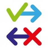 Permission forbidden arrow - stock vector — Stock Vector