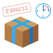 Express delivery vector graphic — Stock Vector