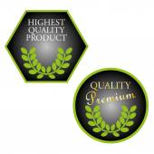 Set of highest quality product stamps — Stock Vector