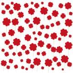 Hearts flower meadow — Stock Vector #63552077