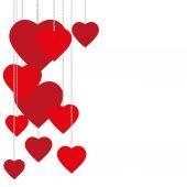 Valentine day nice love heart greeting — Vetor de Stock