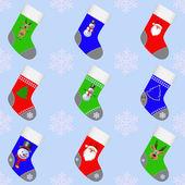 Christmas socks for gifts. — Stock Vector
