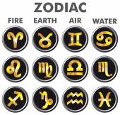 Set of zodiac signs. — Stock Vector