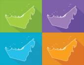 Colorful maps - United Arab Emirates — Stock Vector