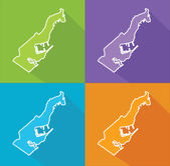 Colorful maps - Monaco — Stock Vector