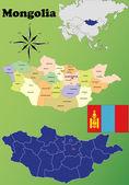 Mongolia maps — Stock Vector