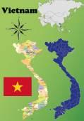 Vietnam vector set. — Stock Vector