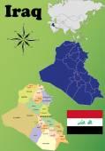 Iraq maps — Stock Vector
