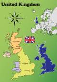 United Kingdom maps — Stock Vector