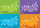 Colorful maps - Russia — Stock Vector