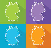 Colorful maps - Germany — Vettoriale Stock