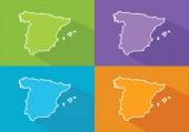 Colorful maps - Spain — Stock Vector