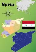 Syria maps — Stock Vector