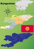 Kyrgyzstan maps — Stock Vector