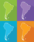 Colorful maps - South America — Stock Vector