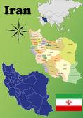 イラン地図 — ストックベクタ