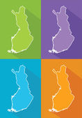 Colorful maps - Finland — Stock Vector