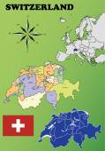 Switzerland maps — Vetorial Stock