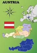 Austria vector set. — Stock Vector