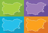 Colorful map - Bulgaria — Stock Vector