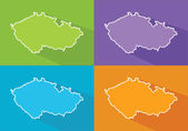 Colorful map - Czech Republic — Stock vektor