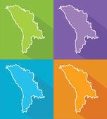 Colorful maps - Moldova — Stock Vector