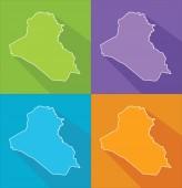 Colorful maps - Iraq — Stock Vector