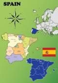 Spain maps — Stock Vector