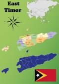 East Timor vector set. — Stock Vector