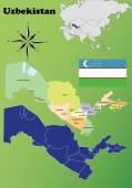 Uzbekistan vector set. — Stock Vector