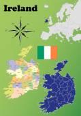 Ireland maps — Stock Vector