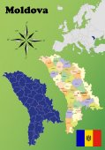 Moldova maps — Stock Vector